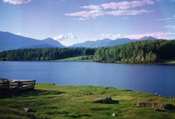 Река, вытекающая из Байкала, фотографии Ангары в